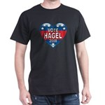 Vote Chuck Hagel 2008 Political Dark T-Shirt