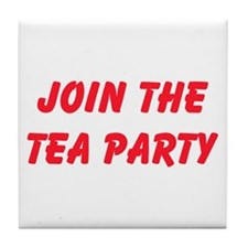 Join The Tea Party Tile Coaster