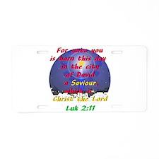 Christ the saviour Aluminum License Plate