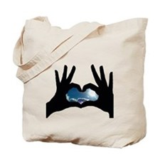 Heart Hands Clear Skies Tote Bag