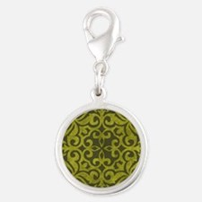 MOSS Silver Round Charm