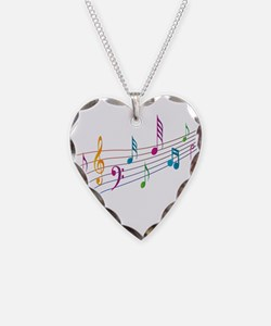 Colorful Musical Notes Design Necklace