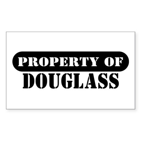 Property of Douglass Rectangle Sticker