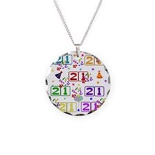 21st Rainbow Birthday Necklace