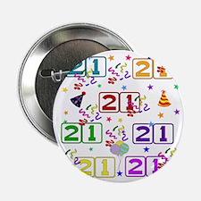 "21st Rainbow Birthday 2.25"" Button"