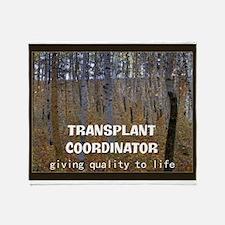 transplant coordinator Blanket A Throw Blanket