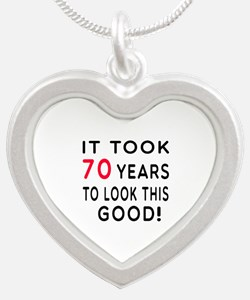 It Took 70 Birthday Designs Silver Heart Necklace