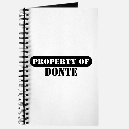 Property of Donte Journal