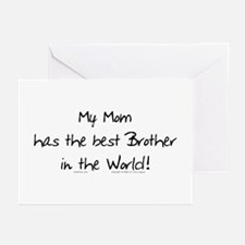My Mom, Best Brother Greeting Cards (Pk of 10)