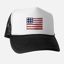 Baseball/flag Trucker Hat