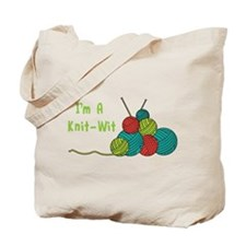 Im a Knit-Wit Tote Bag