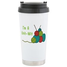 Im a Knit-Wit Travel Mug