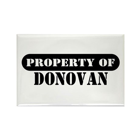 Property of Donovan Rectangle Magnet