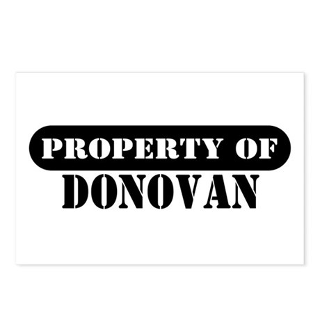 Property of Donovan Postcards (Package of 8)