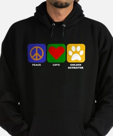Peace Love Golden Retriever Hoodie