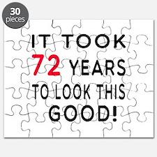 It Took 72 Birthday Designs Puzzle