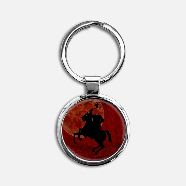 Headless Horseman Round Keychain