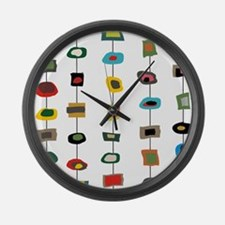 mcm abstract strands 3 Large Wall Clock
