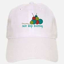 Just Keep Knitting Baseball Baseball Baseball Cap