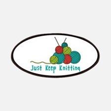 Just Keep Knitting Patches