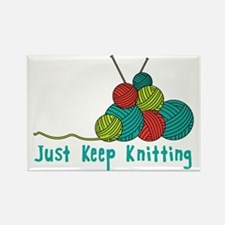 Just Keep Knitting Magnets