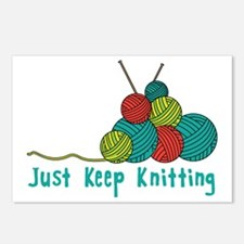 Just Keep Knitting Postcards (Package of 8)