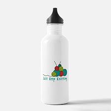 Just Keep Knitting Water Bottle