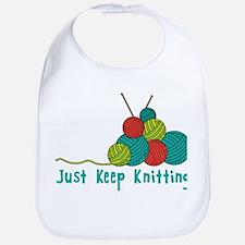 Just Keep Knitting Bib