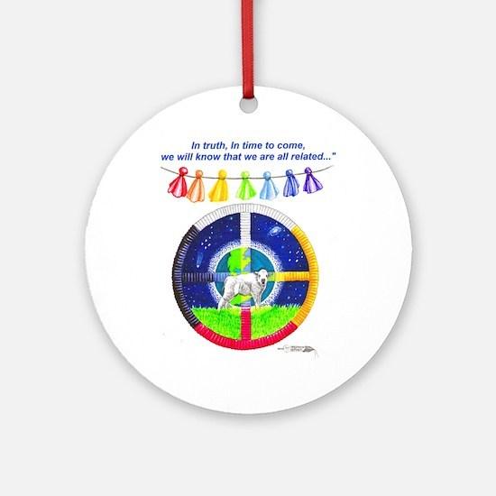 White Buffalo Calf Prophecy  Ornament (Round)