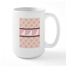Persians and Polka Dots TWIN SIZE Mugs