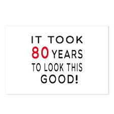 It Took 80 Birthday Designs Postcards (Package of