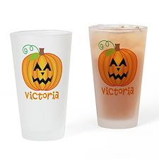 Personalized Halloween Pumpkin Drinking Glass