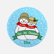 "Our Nth Christmas 3.5"" Button"