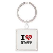 I love my Rumba Boyfriend Square Keychain