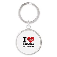 I love my Rumba Boyfriend Round Keychain
