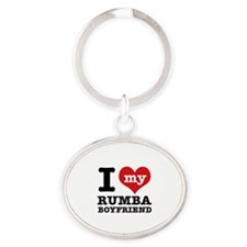 I love my Rumba Boyfriend Oval Keychain