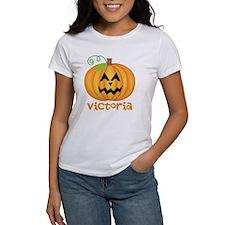 Personalized Halloween Pumpkin Holiday T-Shirt