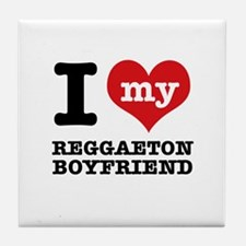 I love my Reggaeton Boyfriend Tile Coaster