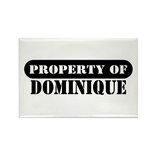 Property of Dominique Rectangle Magnet (100 pack)