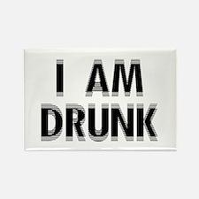 I am DRUNK Rectangle Magnet