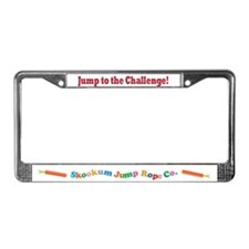 """Jump to the Challenge"" License Plate Frame"