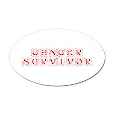 cancer-survivor-kon-red Wall Decal