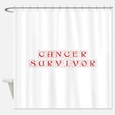cancer-survivor-kon-red Shower Curtain