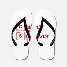 cancer-survivor-break-red Flip Flops