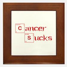 cancer-sucks-break-red Framed Tile