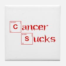 cancer-sucks-break-red Tile Coaster