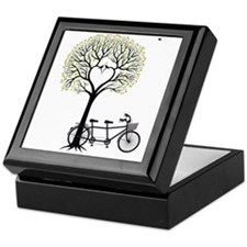 Heart tree with birds and tandem bicycle Keepsake