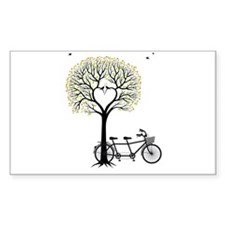 Heart tree with birds and tandem bicycle Decal