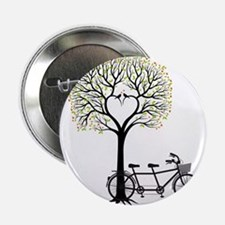 """Heart tree with birds and tandem bicycle 2.25"""" But"""