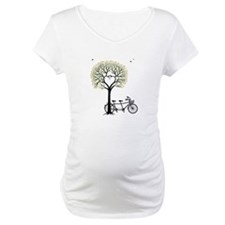 Heart tree with birds and tandem bicycle Shirt